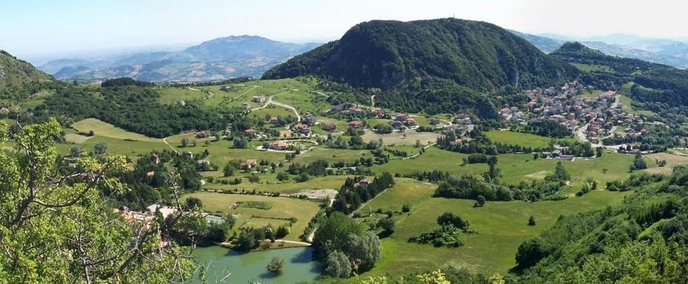 Vista su Villagrande di Montecopiolo
